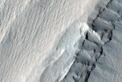 Steep-Walled Trough Among Medusae Fossae Yardangs