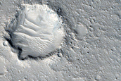 Layered Mesa in Utopia Planitia