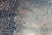 Steep Crater Slope in Terra Cimmeria