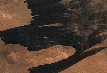 Avalanchas de polvo provocadas por impactos
