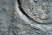 Layered Feature in Crater North of Arabia Region