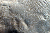 Semeykin Crater Breach with Outflow Channels