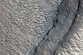 Layers near Elysium Region Rise