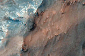 Coprates Chasma Massif Spurs and Dunes