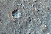 Graben on Terra Sirenum Crater Floor Infill