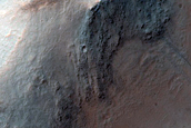 Gully Search in Central Pit of Impact Crater