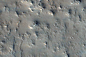 Terrain Southwest of Alba Patera with Low Viking Infrared Thermal Inertia