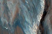 Monitor Slopes on Ridge in Coprates Chasma