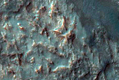Well-Exposed Ejecta Blanket at Kontum Crater