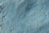 Continuous Ejecta Feature of Resen Crater