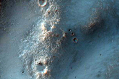 Channels at Possible Ejecta Contacts at Bakhuysen Crater