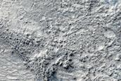 Pedestal Crater on Floor of Hellas Planitia