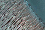Topographical Characterization of Russell Crater Dunes