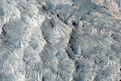 Bright Material in Melas Chasma