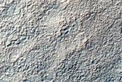 Greater Terra Sirenum Crater Rim or Escarpment