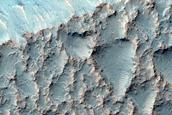 Gullies along Trough Near Mariner Crater