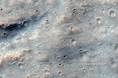 Continuous Ejecta Boundary of Bam Crater