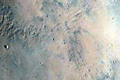 Crater in Amenthes Fossae