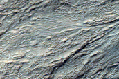 Monitor Slopes of Impact Crater