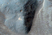 Monitor Crater on Floor of Western Coprates Chasma
