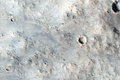 Arabia Terra Crater or Escarpment
