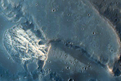 Light-Toned Material Exposed in Spur on West Candor Chasma Wall