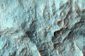 Alluvial Fans in Coprates Chasma