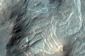 Depression in Columbus Crater
