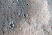 Crater Ejecta Northeast of Orcus Patera
