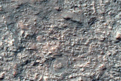 Fan Material in Crater