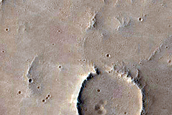 Small Craters in Tharsis Region