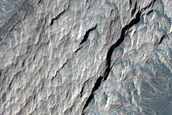 Light-Toned Material on Northwest Candor Chasma Wall