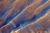 Un cráter de impacto al sud de Mawrth Vallis