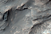 Light-Toned Material and North Coprates Chasma Wall Rock