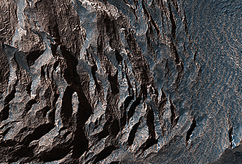 Layered Sediments in Valles Marineris