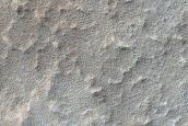 Impact Crater in Arsia Mons Caldera