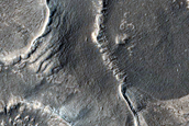 Glacial Features within Crater in Arabia Terra