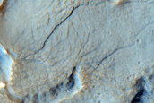 Ridge and Trough Terrain among Mesas in Deuteronilus Mensae