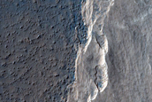 Dust Changes at Medusae Fossae Formation and Lava Plains Contact