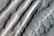 Lineated Valley Fill in Northern Mid-Latitudes