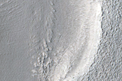 Dipping Layers in Crater in Northern Mid-Latitudes