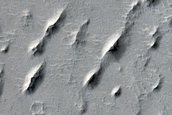 Yardangs in Arabia Terra