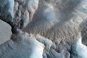 Scarps in Milankovic Crater