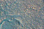 Flow Lobes in Northern Plains Crater