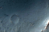 Lassell Crater with Possible Kaolinite
