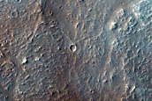 Lava Channel Through Crater Ejecta