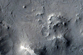 Central Uplift of 60km Diamter Crater
