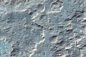 Plateau Surfaces Southwest of Ganges Chasma