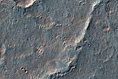 Landforms West of Vinogradov Crater