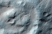 Mound in Holden Crater
